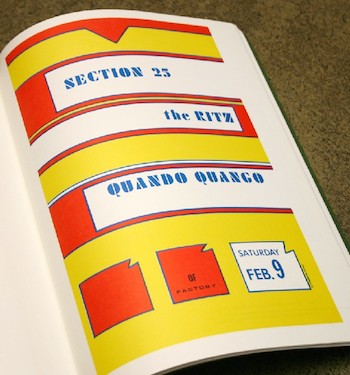 Section 25 / Quando Quango live at The Ritz, New York - poster design by Lawrence Weiner